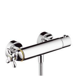 HansGrohe AXOR Carlton Termosztátos zuhanycsaptelep falsíkon kívüli szereléshez DN15 / króm-arany hatású / 17261090 / 17261 090