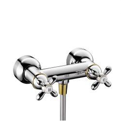 HansGrohe AXOR Carlton Kétkaros zuhanycsaptelep falsíkon kívüli szereléshez DN15 / króm-arany hatású / 17630090 / 17630 090
