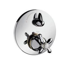 HansGrohe AXOR Carlton termosztátos csaptelep falsík alatti szereléshez / elzárószeleppel és keresztfogantyúval / króm / 17705000 / 17705 000