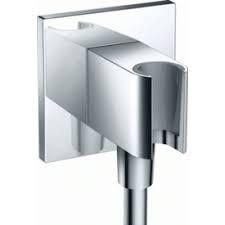 HansGrohe FixFit Porter Square szögletes fix fali zuhanytartó visszafolyásgátlóval, 26486000 / 26486 000