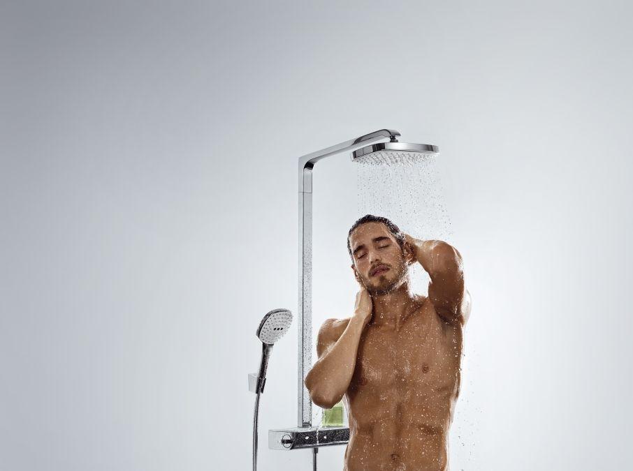 hansgrohe raindance select e 300 2jet showerpipe dn15 kr m 27128000 27128 000 v z g z. Black Bedroom Furniture Sets. Home Design Ideas