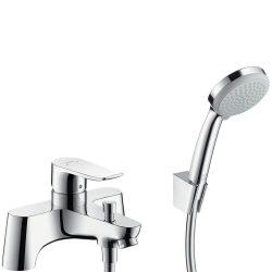 HansGrohe Metris 2 lyukas peremre szerelhető kádcsaptelep / Croma 100 Vario/Porter 'S zuhanyszettel / kézizuhannyal / 31422000 / 31422 000