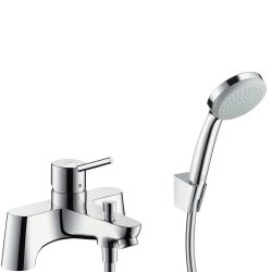 HansGrohe Talis 2 lyukas peremre szerelhető kádcsaptelep / Croma 100 1jet/Porter 'S zuhanyszett / kézizuhany / 31426000 / 31426 000