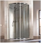 HSK IMPERIAL Negyedköríves / íves tolóajtós sarok zuhanykabin, 90 x 185 cm-es, alumínium matt kerettel, 6 mm-es, átlátszó, biztonsági edzett üveggel, 155090550