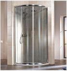 HSK IMPERIAL Negyedköríves / íves tolóajtós sarok zuhanykabin, 90 x 185 cm-es, króm kerettel, 6 mm-es, átlátszó, biztonsági edzett üveggel, 155090550