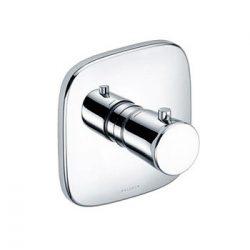 KLUDI AMBA falsík alatti termosztát, falon kívüli készlet szabályzóegységgel, előlappal, 38˚C−ra beállított retesszel, króm 537290575 / 5372905-75 / 53729-05-75