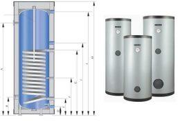 RADECO / KOSPEL SW 250 Termo Max 250 literes indirekt tároló, bojler, használati melegvíz tárolásra-előállításra, 1 hőcserélővel