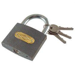 EXTOL CRAFT lakat, öntöttvas, 3 kulccsal, dobozban  50mm / 77030 (MB)