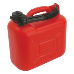 N2 üzemanyag kanna / benzines kanna 5 literes, műanyag, kiöntővel / 84787 (MB)