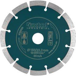 EXTOL INDUSTRIAL gyémántvágó, ipari korong, szegmenses; 125mm, száraz vágásra / 8703032 / (MB)