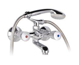 MOFÉM EUROSZTÁR kádtöltő / kád csaptelep Basic zuhanyszettel komplett, 141-0094-00 / 141009400