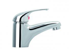 MOFÉM JUNIOR ECO egykaros mosdó csaptelep  fém leeresztő szeleppel / 150-0018-00 / 150001800 / 7,5-9 l/perc vízátbocsátású vízkőmentes perlátorral
