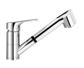 MOFÉM JUNIOR EVO egykaros álló mosogató csaptelep kihúzható vízkőmentes kétfunkciós zuhanyfejjel, 152-0050-00 / 152005000