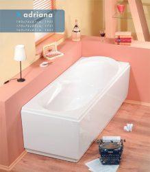 Sapho POLYSAN Adriana 160 cm egyenes akril kád / akrilkád, formatervezett, design, 160x74x45cm, cikkszám: 43111