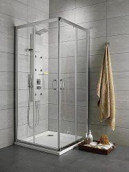 RADAWAY Premium Plus D asszimmetrikus zuhanykabin 90x75x190 / 01 átlátszó üveg / 30433-01-01N