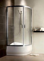 RADAWAY Premium Plus A 1700  íves zuhanykabin 800x800x1700 mm / 01 átlátszó üveg / 30411-01-01N