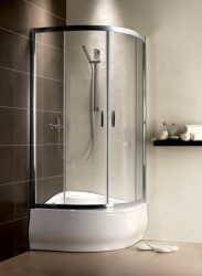 RADAWAY Premium Plus A 1700  íves zuhanykabin 800x800x1700 mm / 08 barna üveg / 30411-01-08N