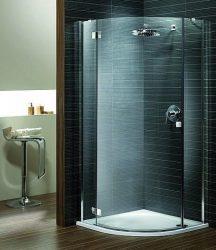RADAWAY Almatea PDJ B negyedköríves zuhanykabin 900x900x1950 mm / 08 barna üveg /bal, Balos / 30602-01-08N
