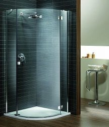 RADAWAY Almatea PDJ J negyedköríves zuhanykabin 900x900x1950 mm / 05 grafit üveg / jobb, jobbos / 30702-01-05N