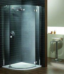 RADAWAY Almatea PDJ J negyedköríves zuhanykabin 900x900x1950 mm / 08 barna üveg / jobb, jobbos / 30702-01-08N