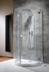 RADAWAY Almatea P félkör zuhanykabin 1000x900x1950 mm  / 01 átlátszó üveg / 30722-01-01N