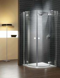 RADAWAY Torrenta PDD 90 íves zuhanykabin 900x900x1850 mm / 05 grafit üveg / bal, balos / 31600-01-05N