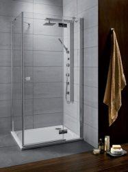 RADAWAY Almatea KDJ 90 J*×80 aszimmetrikus zuhanykabin 900x800x1950 mm / jobb, jobbos / 05 grafit üveg / 32148-01-05NR