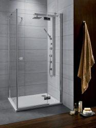 RADAWAY Almatea KDJ 90 J*×100** aszimmetrikus zuhanykabin 900x1000x1950 mm / jobb, jobbos / 08 barna üveg / 32151-01-08NR