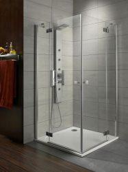 RADAWAY Almatea KDD 75B×90J szögletes zuhanykabin 800x750x1950 / 05 grafit üveg / 32185-01-05N