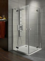 RADAWAY Almatea KDD 90B×80J szögletes zuhanykabin 900x800x1950 / 05 grafit üveg / 32186-01-05N