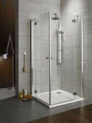 RADAWAY Torrenta KDD 100B×100J szögletes zuhanykabin 1000x1000x1850 mm / bal, balos / 10 kockás üveg / 32272-01-10N