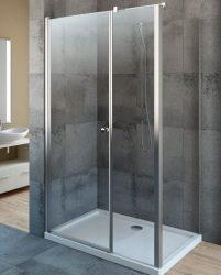 RADAWAY EOS KDS 100 B*×80 szögletes / téglalap alapú zuhanykabin 1000×800x1970 mm bal / balos / átlátszó üveg / 37550-01-01-NL