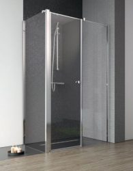 RADAWAY EOS II S1 80 J zuhanykabin oldalfal / FAL, 800x1950 mm, jobb / jobbos / 01 átlátszó üveg / 3799410-01R