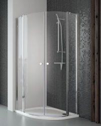 RADAWAY EOS II PDD 80 B íves zuhanykabin, dupla lengőajtós kivitel, 800x800x1950 mm, bal / balos / 01 átlátszó üveg / 3799470-01L