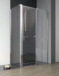 RADAWAY EOS II KDS 120 J szögletes / téglalap alapú / aszimmetrikus zuhanykabin 1200x1970 mm jobb / jobbos / átlátszó üveg / 3799484-01R