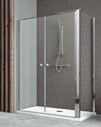 RADAWAY EOS II DWD 90 szögletes zuhanykabin, dupla  lengőajtós 900x1970mm bal / balos / 01 átlátszó / 3799491-01