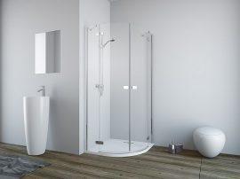 RADAWAY Fuenta New PDD 80J jobb / jobbos, íves zuhanykabin AJTÓ / negyedköríves / 01 átlátszó üveg 384002-01-01R