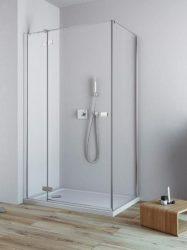 RADAWAY Fuenta New KDJ 120 B bal / balos szögletes zuhanykabin AJTÓ 1200x2000 mm / 01 átlátszó üveg / 384042-01-01L + Króm küszöb