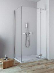 RADAWAY Fuenta New KDJ 120 J jobb / jobbos szögletes zuhanykabin AJTÓ 1200x2000 mm / 01 átlátszó üveg / 384042-01-01R + Króm küszöb