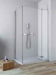 RADAWAY Fuenta New KDJ 80 J jobb / jobbos szögletes zuhanykabin AJTÓ 800x2000 mm / 01 átlátszó üveg / 384043-01-01R + Króm küszöb