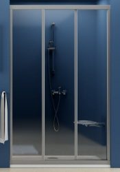 RAVAK SUPERNOVA ZUHANYAJTÓ ASDP3-110 FEHÉR kerettel / TRANSPARENT biztonsági üveggel, háromelemes, tolórendszerű, 110 cm-es / 00VD0102Z1
