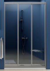 RAVAK SUPERNOVA ZUHANYAJTÓ ASDP3-110 FEHÉR kerettel / GRAPE edzett biztonsági üveggel, háromelemes, tolórendszerű, 110 cm-es / 00VD0102ZG
