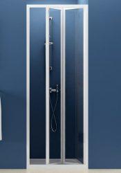 RAVAK SUPERNOVA SDZ2-70 kétrészes, befelé nyíló zuhanyajtó fehér kerettel / PEARL műanyag / plexi betétlemez, 70 cm-es / 01V1010011