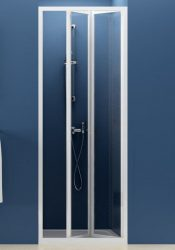 RAVAK SUPERNOVA SDZ2-70 kétrészes, befelé nyíló zuhanyajtó fehér kerettel / GRAPE edzett biztonsági üveggel, 70 cm-es / 01V10100ZG