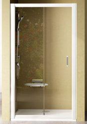 RAVAK Rapier NRDP2-120 Toló rendszerű kétrészes, jobbos zuhanyajtó szatén kerettel / GRAPE edzett biztonsági üveggel  120 cm / 0NNG0U0PZG