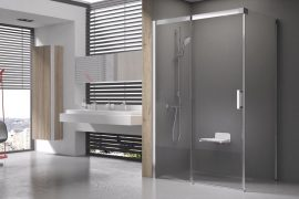 RAVAK Matrix zuhanykabin, MSDPS-100/80 R Jobbos, szatén kerettel, transparent biztonsági üveggel, 0WPA4U00Z1