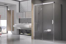 RAVAK Matrix zuhanykabin MSDPS-100/100 R Jobbos, szatén kerettel, transparent biztonsági üveggel, 0WPAAU00Z1