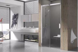 RAVAK Matrix zuhanyajtó, MSD2-120 R Jobbos, krómhatású / fényes alumínium kerettel,  transparent biztonsági üveggel, 0WPG0C00Z1