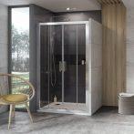 RAVAK 10° 10DP4-120 zuhanyajtó, 1180-1220 x 1900, fehér+Transparent, 0ZKG0100Z1