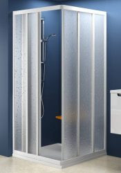RAVAK SUPERNOVA sarokbelépős zuhanykabin ASRV3-80, fehér kerettel / TRANSPARENT edzett biztonsági üveggel, háromelemes tolórendszerű ajtóval, 80 cm / 15V40102Z1